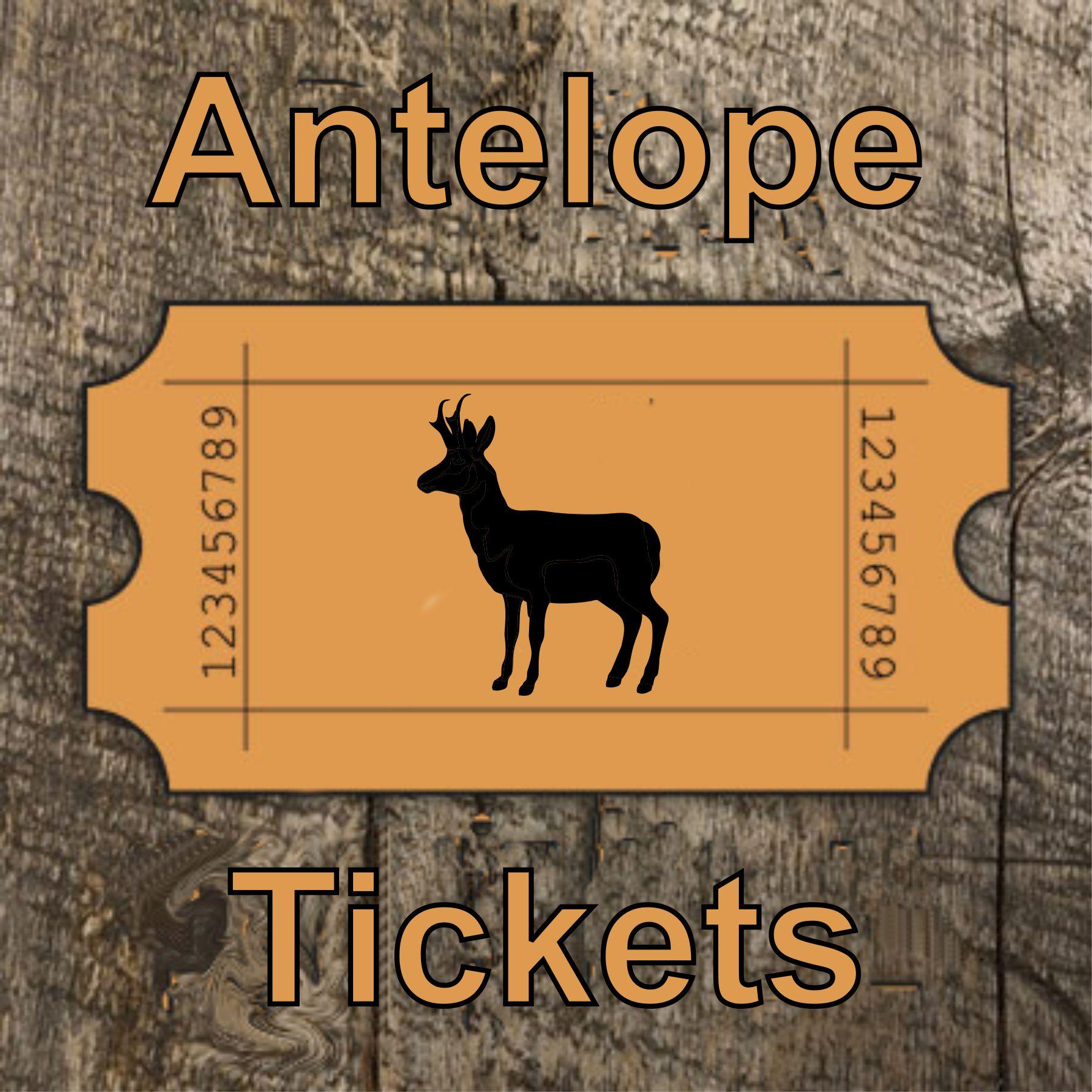 Antelope License Raffle Tickets