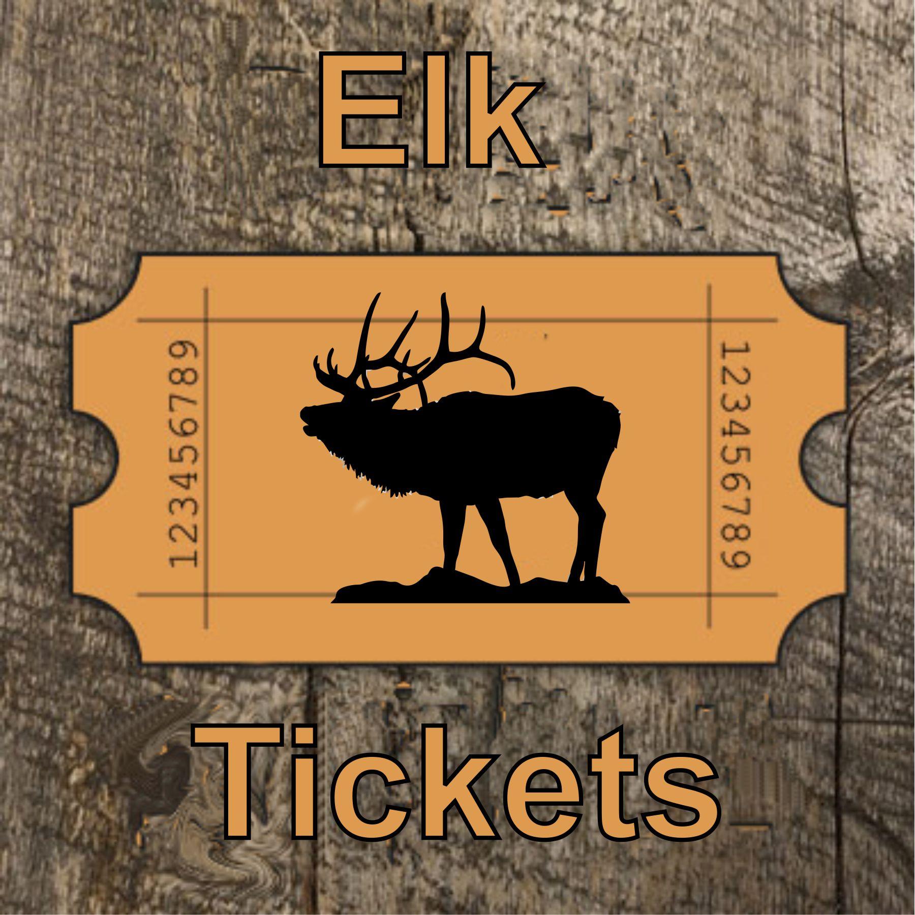 Elk License Raffle Tickets