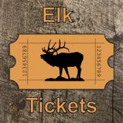 Elk License Raffle Tickets - 5 Tickets